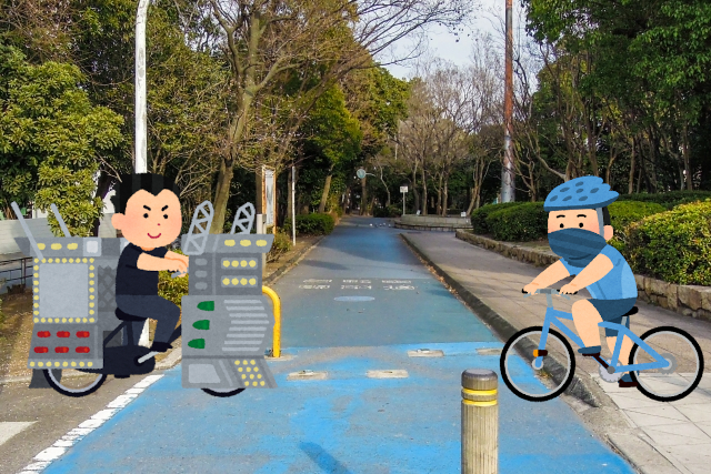 西淀川区の自転車道路