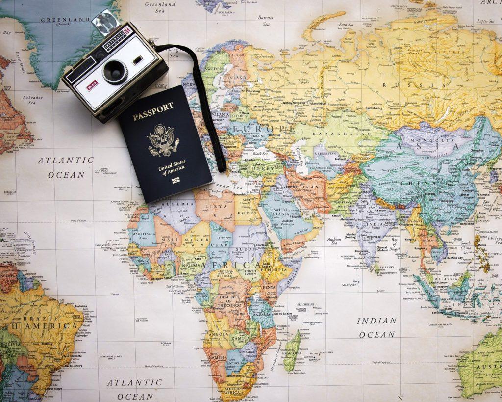 ワーケーションをする旅先を考える地図