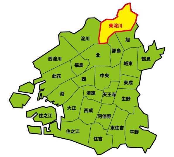 東淀川区_大阪市マップ